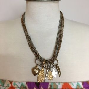 Jewelry - Multi Chain Charm Necklace